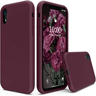 SURPHY iPhone XR Silicone Case,Liquid Silicone Gel Rubber Anti-Scratch 6.1 inch Phone Case for iPhone XR (Plum)