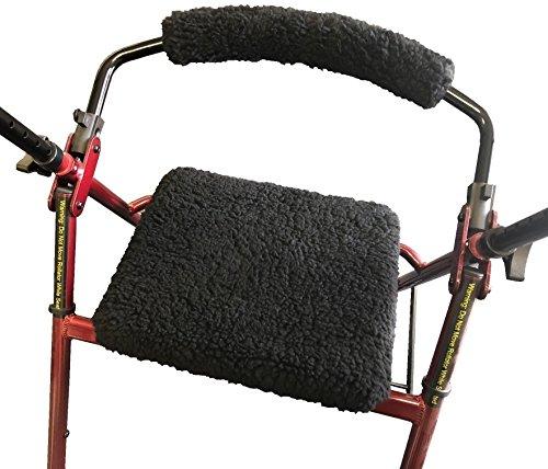 Allman Premium Black Fleece Seat & Back Cover for Rollator