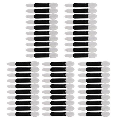 Sharplace 50pcs Pinceau à Deux Extrémités Jetable Brosse Eponge pour Fard Ombre à Paupières - Outils Beauté des Yeux