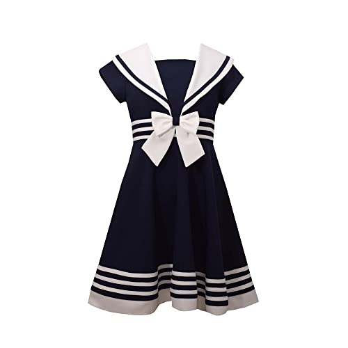 f77aadf49b1 Bonnie Jean Girls' Little Fit and Flare Nautical Dress