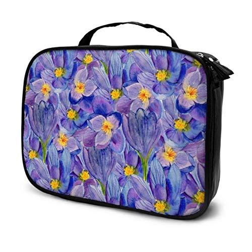 Eine blühende Safran-Reise-Kosmetik-Organizer-Tasche Make-up-Reisetasche-Organizer-Tasche Kosmetische Organizer-Multifunktions-Drucktasche für Frauen