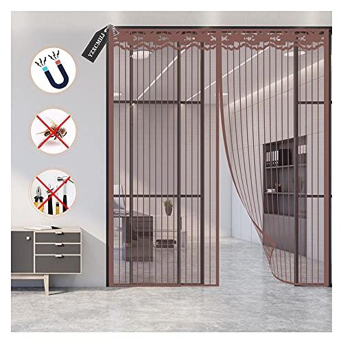Cortina Magnética para Puerta,Anti Insectos Moscas y Mosquitos, con Imanes Cierre Automático, para Puertas Correderas/Balcones/Terraza,140x240cm