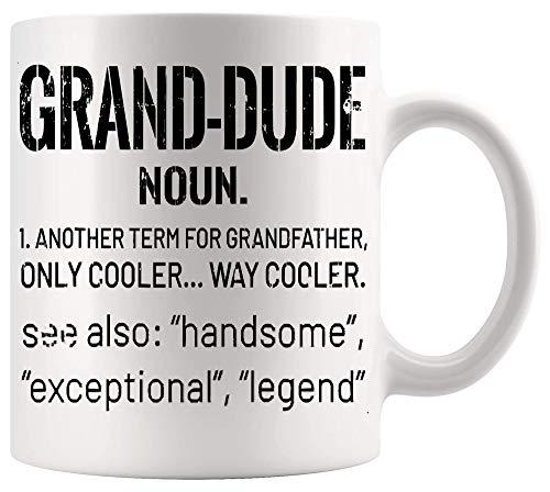 Taza del abuelo Taza del día del padre Hombres Grandpa Grand Dude Definición divertida Cool Retro Vintage Gift T Shirt Tazas divertidas Tazas