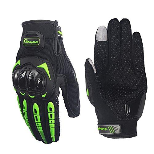 LKN 1par de guantes deportivos protectores de la marca LKN para moto y bicicletas con dedo índice completo apto para tocar pantallas