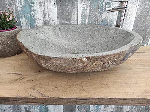 Lavabo de piedra 1ª elección 182 XL Medida 61 x 48 cm Altura 17 cm Fotos reales del lavabo lavabo de baño fregadero baño baño de apoyo