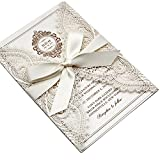 Best Wedding Invitations - Picky Bride 25-Pack Elegant Wedding Invitations Cards, Save Review