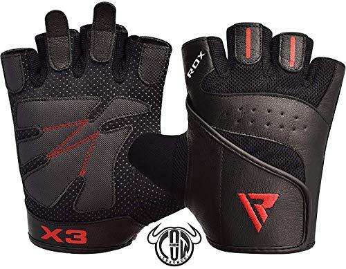 RDX Fitness Handschuhe Trainingshandschuhe Handgelenkstütze Sporthandschuhe Gewichtheben Workout Bodybuilding Krafttraining klimmzug Gym Gloves (MEHRWEG)