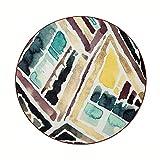 Tapis à facettes de Sol Creative Tatami Couverture de Chevet Chaise pivotante Nordic Creative Rond de Chambre (Color : 100cm)