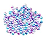 ALLinONE Rainbow Mermaid Color ABS Faux Pearl Beads for DIY Craft Jewelry Making 300pcs (#1)