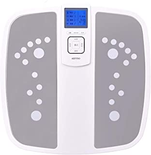 リモコン 足マッサージ機、電気指圧、熱、ローリングおよび空気圧縮式足マッサージ、自宅での、およびオフィスでの足裏マッサージとストレス解消のための インテリジェント, gray