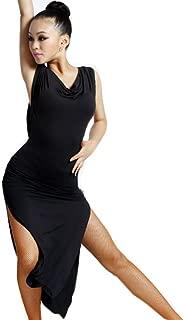 (Large, Black) - Motony Women New Style Latin Dance Dress Latin Dance Practise Costume Adult Performance Skirt Black