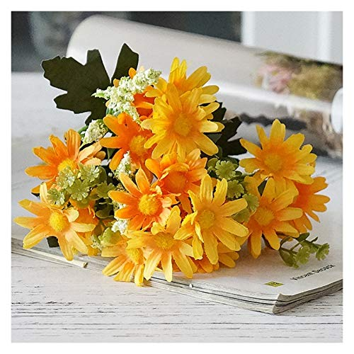 Image of fake flowers A Small Handful Of American Pastoral Daisies With 20 Flowers, Realistic-Looking Flowers, And Party Decoration Petals for Home Photography, Soft Decoration, Daisy Flowers (Blue) S