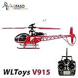 WLtoys v915Lama–2,4Ghz 4canaux hélicoptère avec télécommande LCD, gyroscope deux vitesse et umfangreichen Vivog faciles d'utilisation–RTF complet.