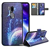 LFDZ Compatible with LG G7 ThinQ Case,PU Leather LG G7