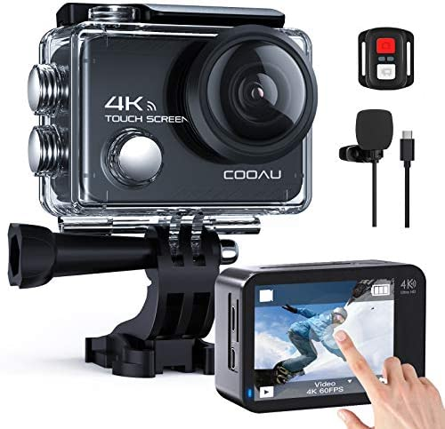 COOAU Native 4K 60fps 20MP Touch Screen WiFi Action Sport Camera EIS Stabilization Underwater product image
