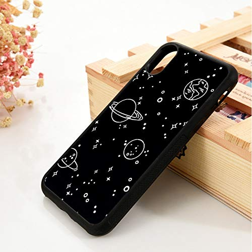 WGOUT para iPhone 5 5S 6 6S Funda de Silicona   para iPhone 7 Plus XX 11 12 Mini Pro MAX XR Galaxy Planet Dan Bintang Cetak, para iPhone XS MAX