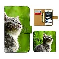 AQUOS sense4 SH-41A ケース 手帳型 ねこ画像 手帳ケース スマホケース カバー 猫 にゃんこ キャット ペット ネコ E0287030115201