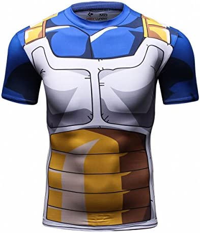Cody Lundin Hombres Tapas de la Camiseta de Digital Impreso Manga Corta Ajustada