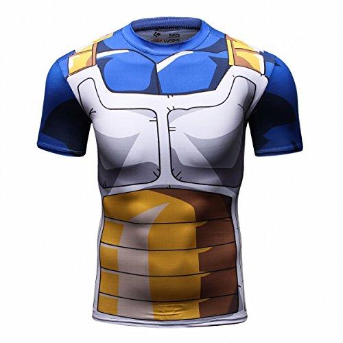 Cody Lundin Cime degli Uomini Digitale Stampata Stretto Manica Corta Camicia Sport Outdoor Uomo Fitness Stile t-Shirt (M)