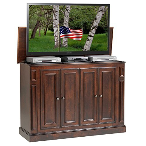 TVLiftCabinet Harbor Rich Tobacco TV Cabinet, Brown