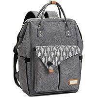 Lekebaby Diaper Bag Backpack with Arrow Print (Grey)