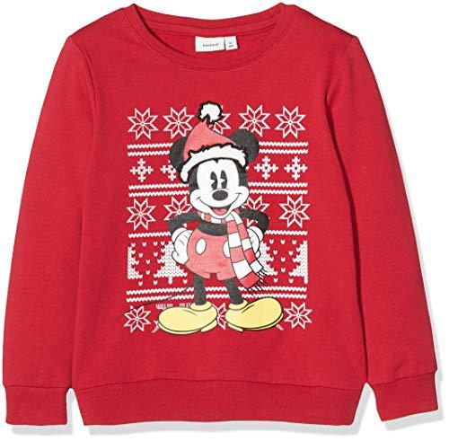 NAME IT Baby-Jungen NMMMICKEY Honor Sweat BRU WDI Sweatshirt, Rot (Jester Red Jester Red), (Herstellergröße: 98)