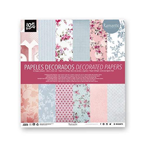 Busquets - Papeles Decorados Scrapbooking Romantic 30,5x30,5
