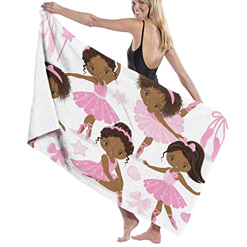 ZORMIEY Sand Towel,Bath Towel,Pink Ballet Cute Girl Ballerina Dancer Skirt Gymnastic Kid,Quick-Drying,high-Absorption,Lightweight and Thin Soft Bath Towel,Swimming Bath,Camping,Yoga,Fitness Exercise