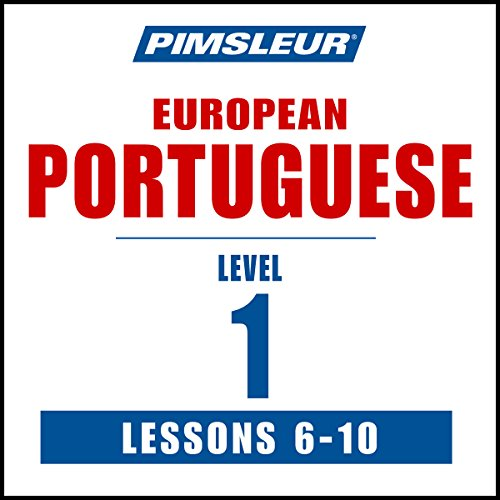 Pimsleur Portuguese (European) Level 1, Lessons 6-10     Learn to Speak and Understand European Portuguese with Pimsleur Language Programs              Written by:                                                                                                                                 Pimsleur                               Narrated by:                                                                                                                                 Pimsleur                      Length: 2 hrs and 32 mins     Not rated yet     Overall 0.0