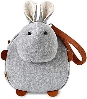 Ugly Cute Slant Cross Bag Female 2020 New Cartoon Mobile Phone Bag Student One Shoulder Girl Lovely Leisure Bag (Rabbit Grey)