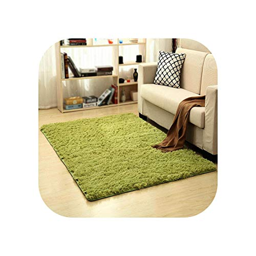 Area Rug | Modern Black Color Carpet Shaggy Plush Floor Fluffy Printed Mats for Kids Faux Fur Area Rug Living Room Mats Absorption -Army Green-80x120cm