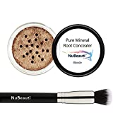 Root Concealer Touch Up Powder   All-Natural Crushed Minerals With Brush   Fast and Easy Total Gray Hair Cover up For Black   Brown   Auburn and Blonde Hair .30 ounce (Blonde)