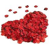 DASIAUTOEM 3000 Piezas Pétalos de Rosa, Pétalos de Rosa Rojos Artificiales Confeti de Rosas para Bodas Decoración, Fiestas, Proponer, Decoración de Regalo, día de San Valentín y Ambiente Romántico