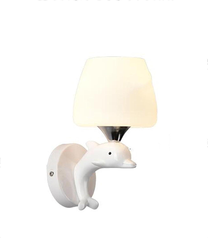 Unbekannt Zhang-Wandleuchte- Resin Modern Einfache Nachttisch Schlafzimmer Wandlampe - Wandbeleuchtung Dekoration (gre   12cm)