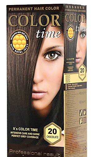 Color Time Haarfarbe Permanent, mit Gelée royale, 20 Schokolade