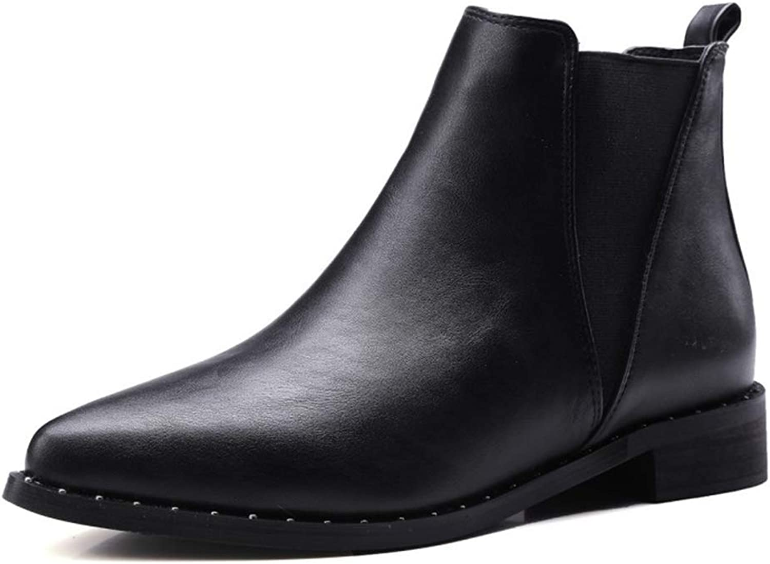 Ankle Boots Women,Chelsea Boot,Low Chunky Heels Comfortable Work Booties