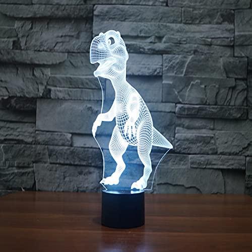 Yyhmkb Vintage Romantico Adhesivo Pizarras Armario Restaurante Leddinosaurio Colorido 3D Creativo Táctil Control Remoto Lámpara De Escritorio Lámpara De Ilusión Led De Ahorro De Energía