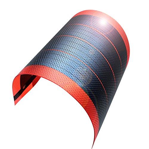 jiang Chargeur de batterie solaire Flexible film mince Panneau solaire module DIY 1 W 6 V cellules batterie rechargeable 3.94\