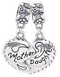 Mother & Daughter Herz Charm - Sterling Silber S925 Charm für Damen Pandora Armband in einer Geschenkbox