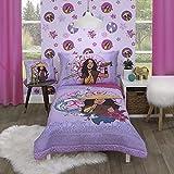 Disney Raya & The Last Dragon Mythic Pop Lavender, Magenta, Blue with Sisu Dragon Tuktuk 4Piece Toddler Bed Set, Lavender, Magenta, Teal, Tan