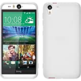 PhoneNatic Hülle kompatibel mit HTC Desire Eye - weiß Silikon Hülle X-Style + 2 Schutzfolien