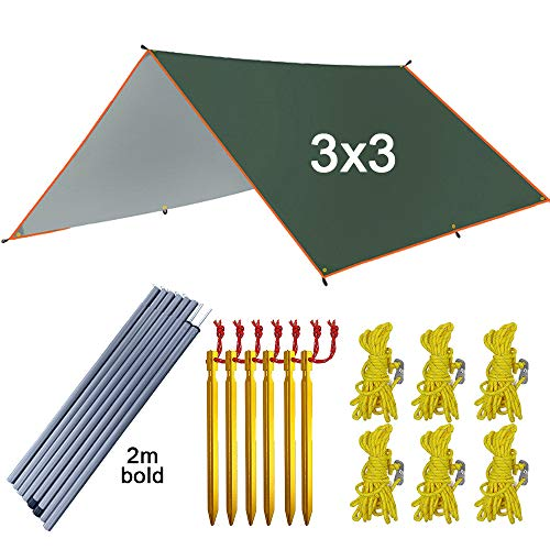 Toldos Vela 4x3m Tienda CampañA 3x3m Velas De Sombra/Ultraligero Jardín Protector Solar Toldo Sombrilla/Camping Al Aire Libre Hamaca Playa Refugio Solar Carpas Cenadores,3x3m