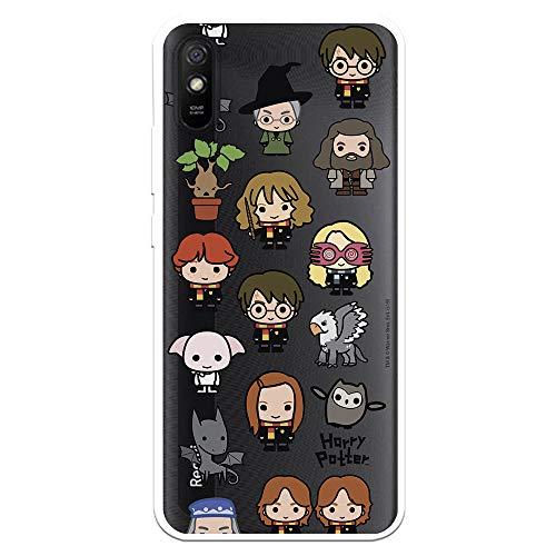 Funda para Xiaomi Redmi 9A - Redmi 9AT Oficial de Harry Potter Personajes Iconos para Proteger tu móvil. Carcasa para Xiaomi de Silicona Flexible con Licencia Oficial de Harry Potter.