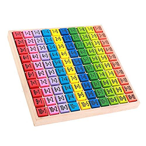 Tabla de Multiplicar de Madera Niños de la Tabla de Multiplicar Educativos de Aprendizaje Aritmético para Estudiantes de Primaria Multiplicación Aprendizaje Aritmético Desarrollo Educativo en Infancia