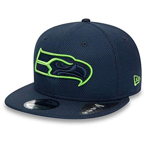 New Era 9FIFTY NFL Seattle Seahawks Team Outline Cap dunkelblau/hellgrün, S/M