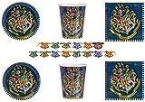 Party Store web by casa dolce casa Harry Potter Coordinato ADDOBBI TAVOLA Festa Harry Potter Kit n°15 CDC-(40 Piatti,40 Bicchieri,48 TOVAGLIOLI,1 Ghirlanda)