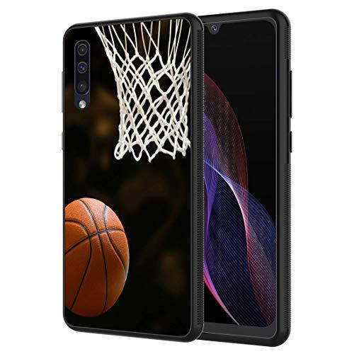 Galaxy A10E Case, Vobber Shockproof Architecture Silicone TPU Protective Case Cover for Samsung Galaxy A10E,Basketball