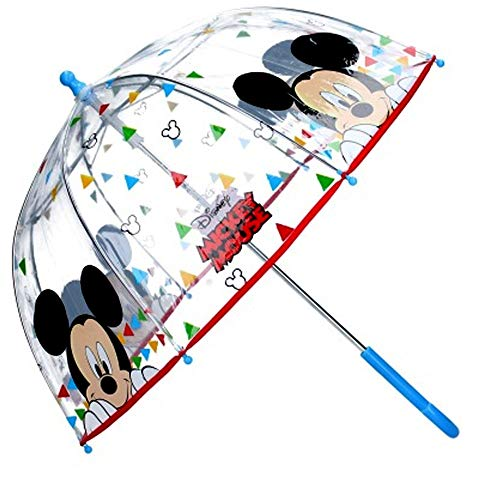 Paraguas Cúpula Transparente Manual Paraguas Niño Infantil Paraguas Mickey Mouse 60cm