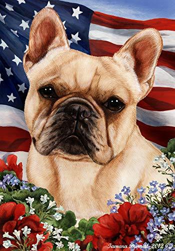 Best of Breed French Bulldog Cream Patriotic Garden Flags