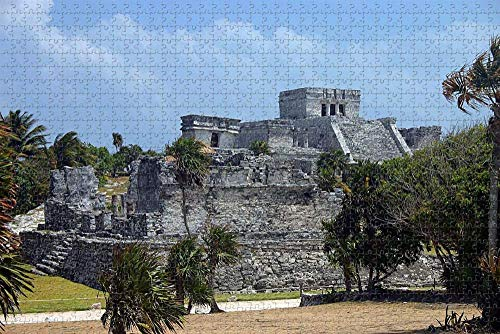 Rompecabezas para Adultos Riviera Maya México Puzzle 1000 Piezas Regalo de Recuerdo de Viaje de Madera